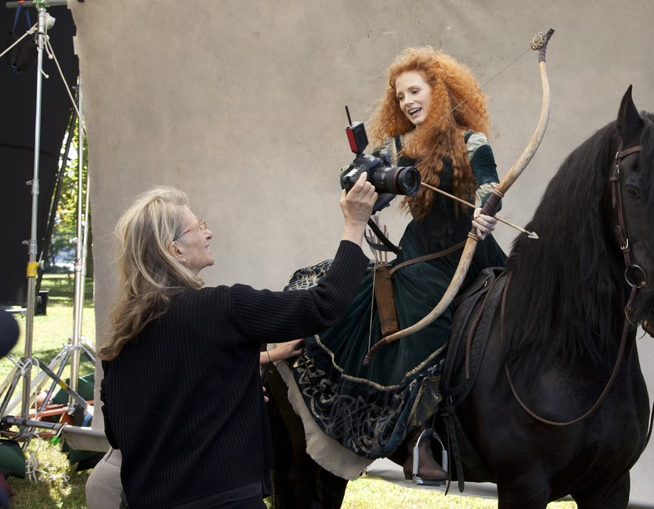 Jessica Chastain As Merida In Leibovitz S Disney Dream