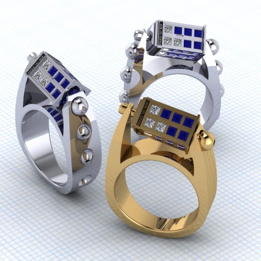 Update Spinning TARDIS Ring by Paul Michael Design We Geek Girls