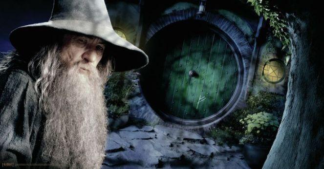 Gandalf at Bag End