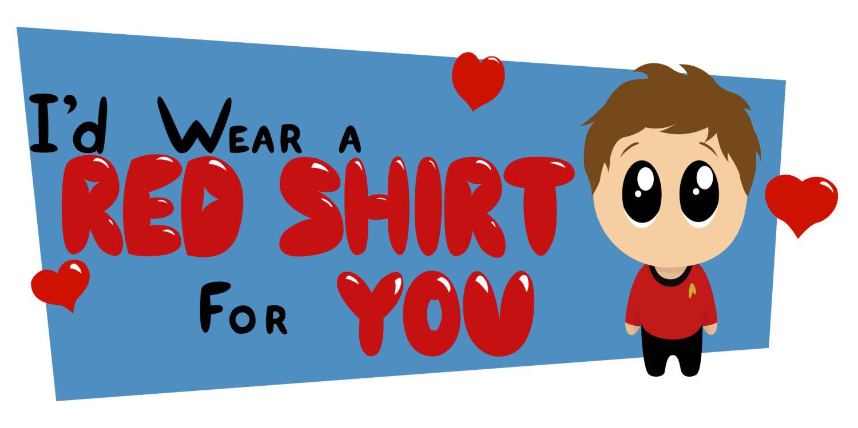 Star Trek Red Shirt Valentine Day Card