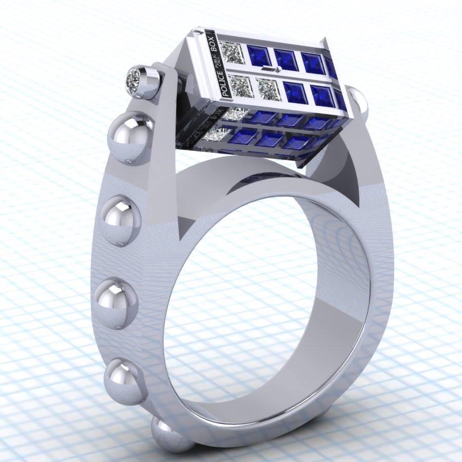 Spinning Tardis Ring Perfect Engagement