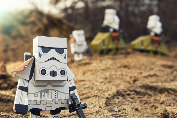 STAR WARS PAPER TOY