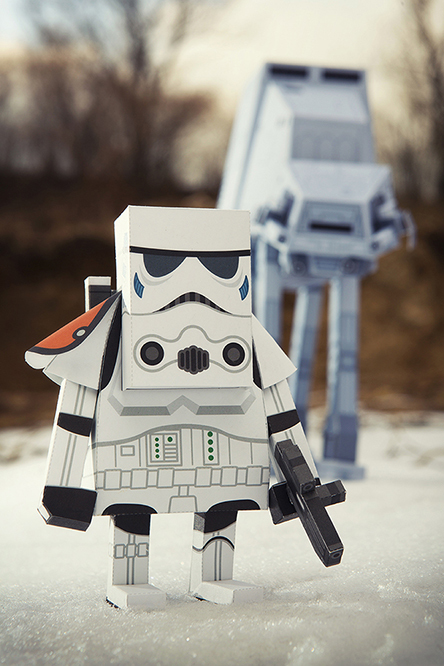 STAR WARS PAPER TOY7