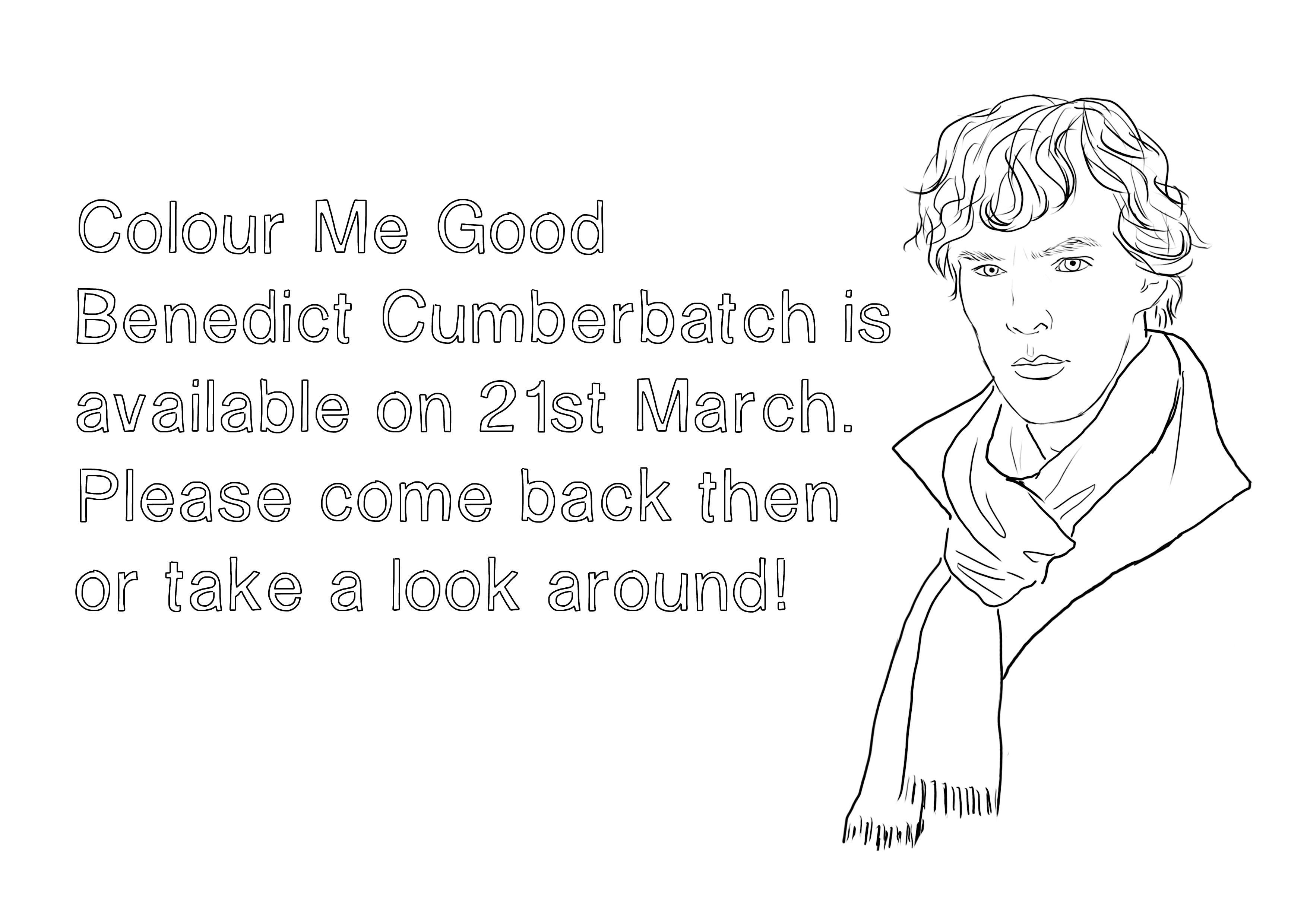Benedict Cumberbatch Coloring Book5
