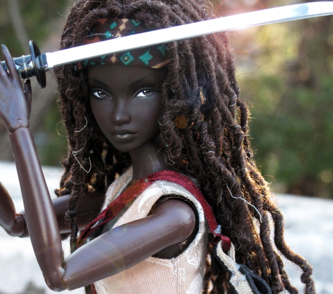 Michonne Barbie Doll by Peewee Parker