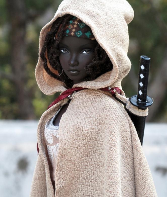 Michonne Barbie Doll by Peewee Parker2