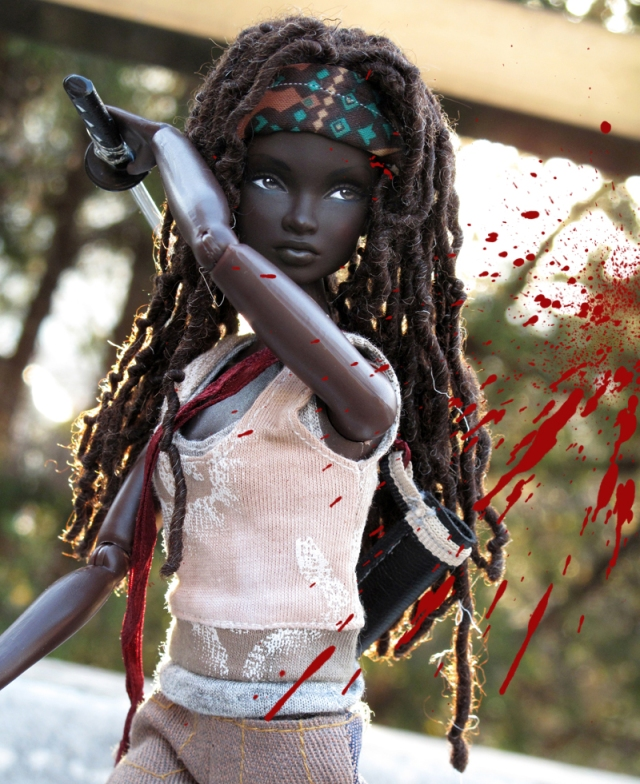 Michonne Barbie Doll by Peewee Parker3