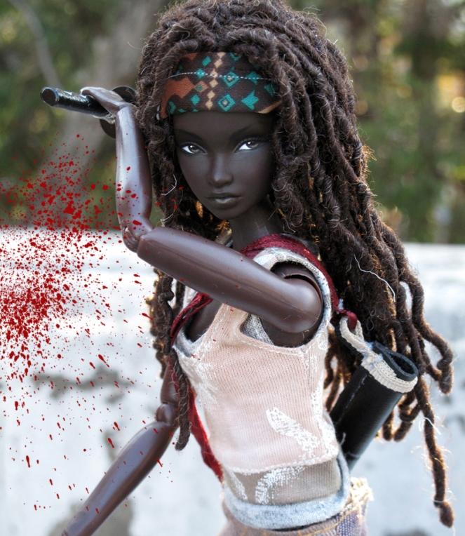 Michonne Barbie Doll by Peewee Parker4
