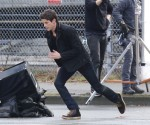 "Grant Gustin Films ""The Flash"""