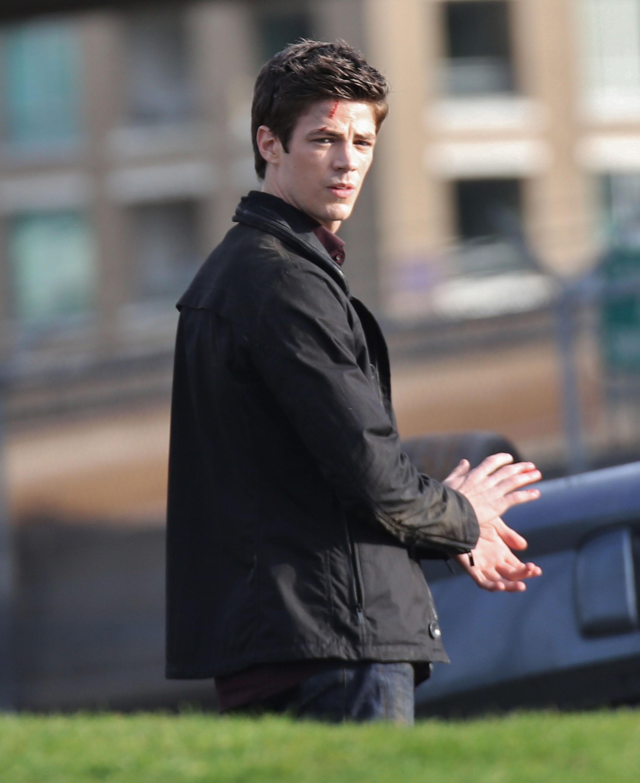Grant Gustin Films The Flash