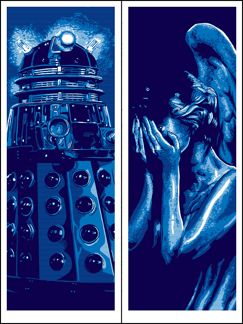 Dalek and Weeping Angel