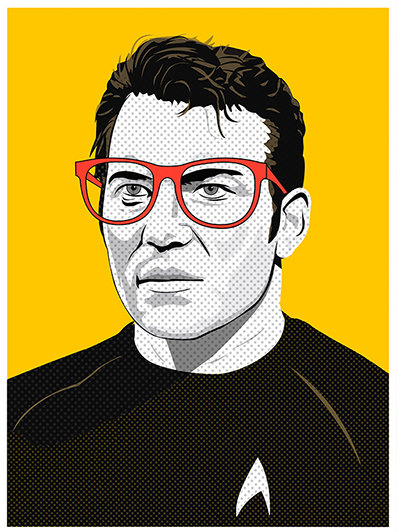 Star Trek Pop Art_Captain Kirk_Illustrated by Kevin Keeton
