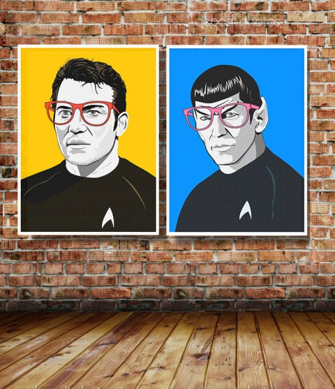 Star Trek Pop Art_Illustrated by Kevin Keeton