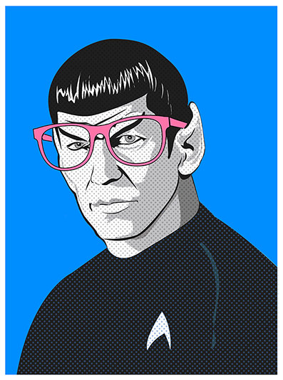 Star Trek Pop Art_Spock_Illustrated by Kevin Keeton