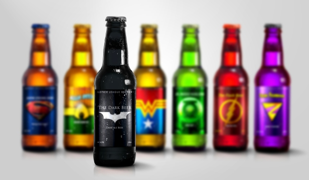 Super Hero Beers by Marcelo Rizzetto_Justice Leage Brewery