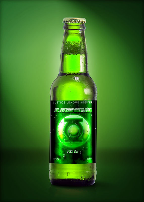 Super Hero Beers by Marcelo Rizzetto_St Patrick Green Beer