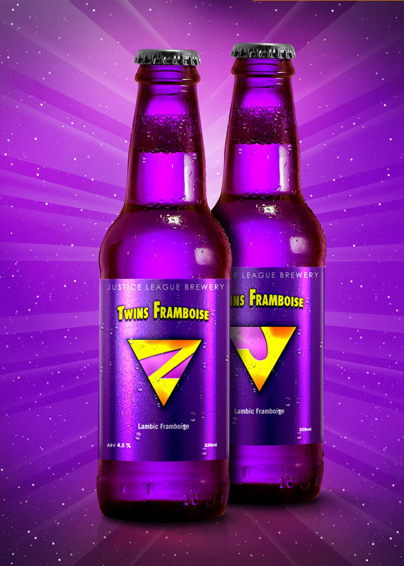 Super Hero Beers by Marcelo Rizzetto_Twins Framboise