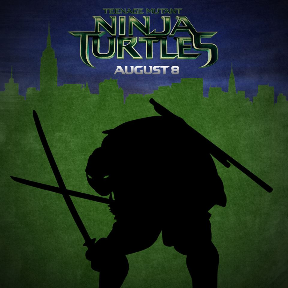 Teenage Mutant Ninja Turtles Leonardo Silhouette Poster