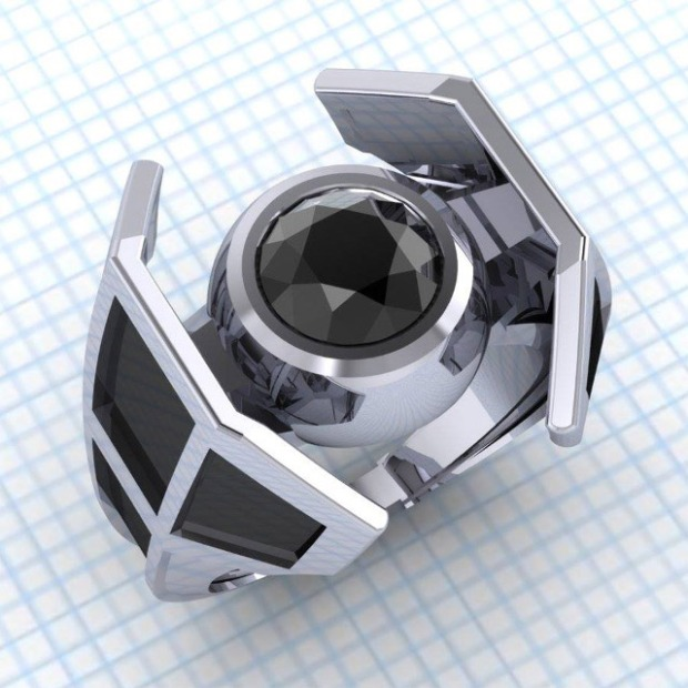 Tie-Fighter-Ring by Paul Michael Designs