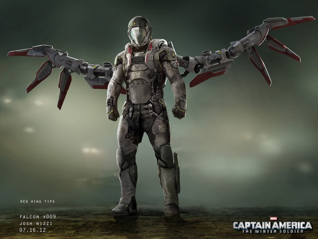 Captain America_Winter Soldier_Falcon Concept Art by Josh Nizzi