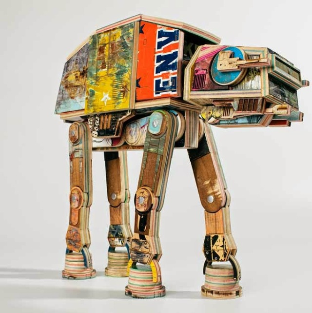 Star Wars AT-AT_Made out of Skateboards_by Derek Keenan