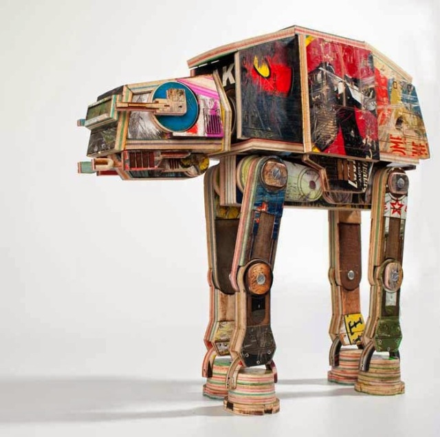 Star Wars AT-AT_Made out of Skateboards_by Derek Keenan2