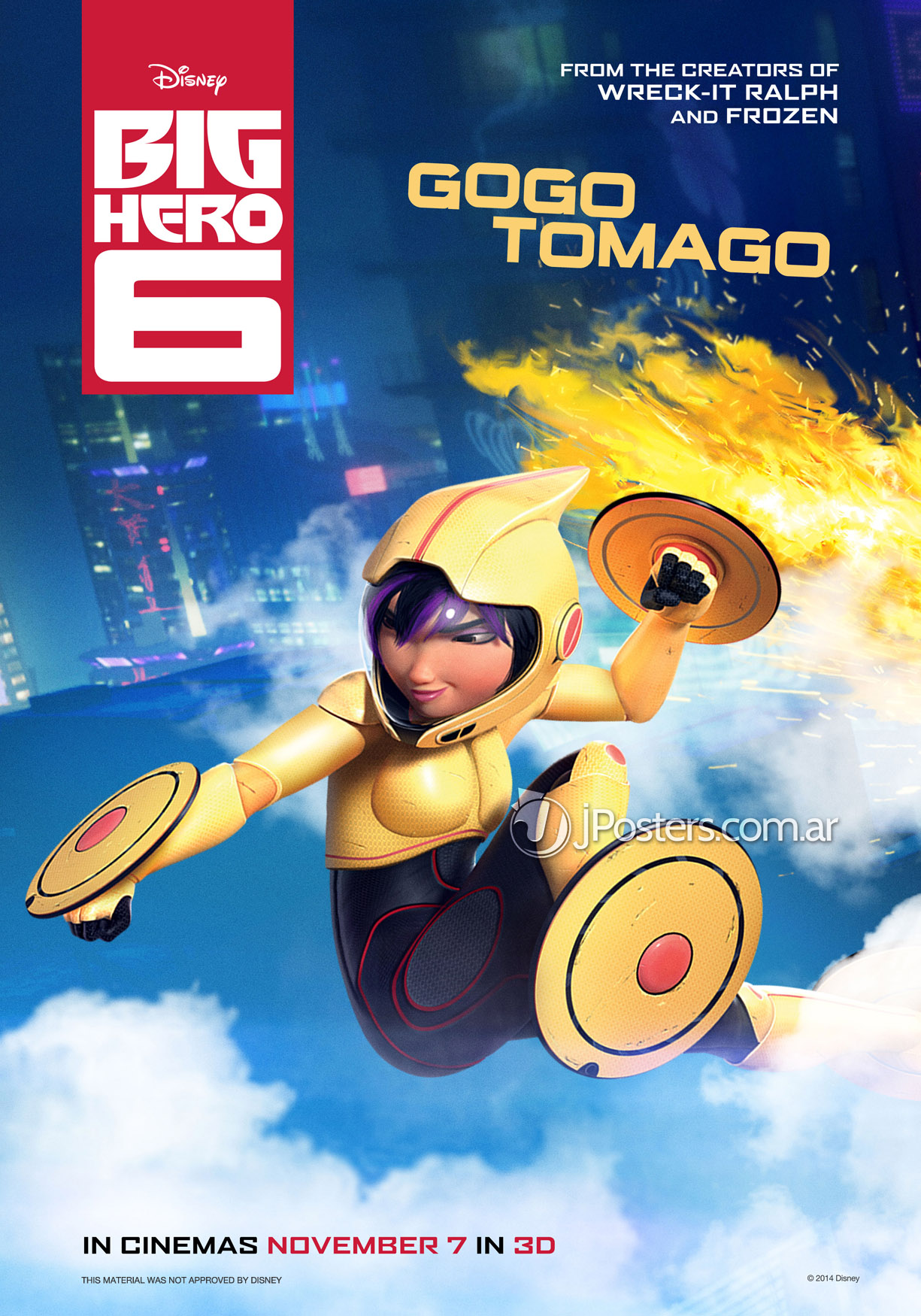 6 New Character Posters For Marvel And Disneys Big Hero 6 We