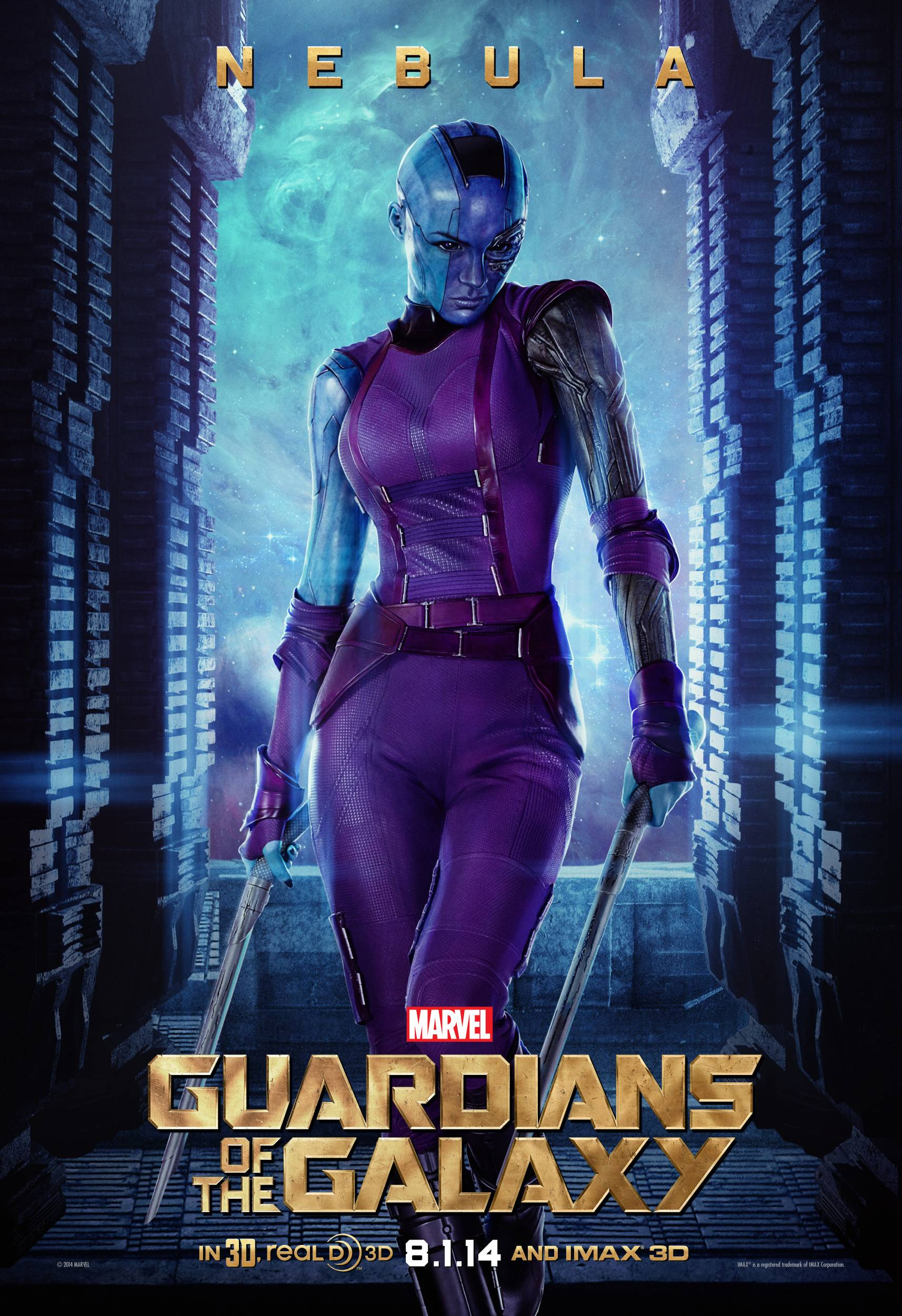 New 'Guardians of the Galaxy' Character Posters Featuring Nebula ...