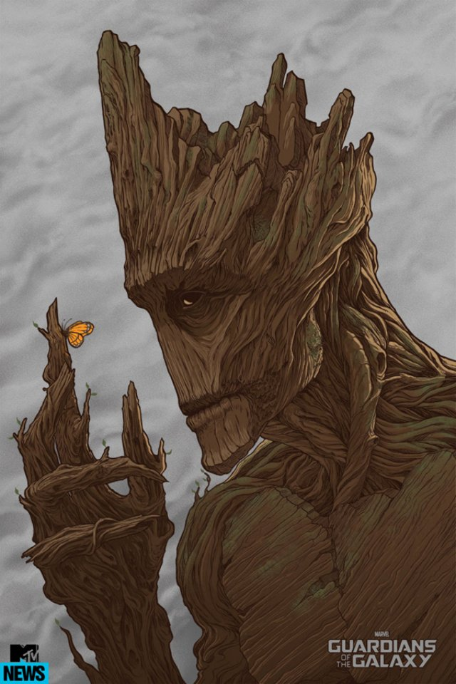Guardians of the Galaxy_Mondo Groot Poster