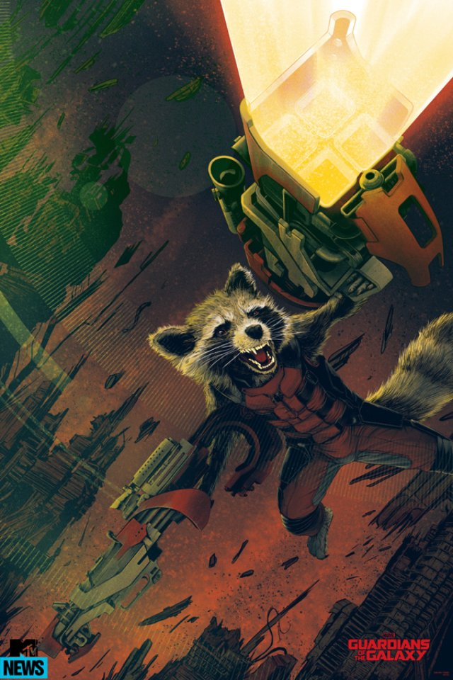 Guardians of the Galaxy_Mondo Rocket Raccoon Poster