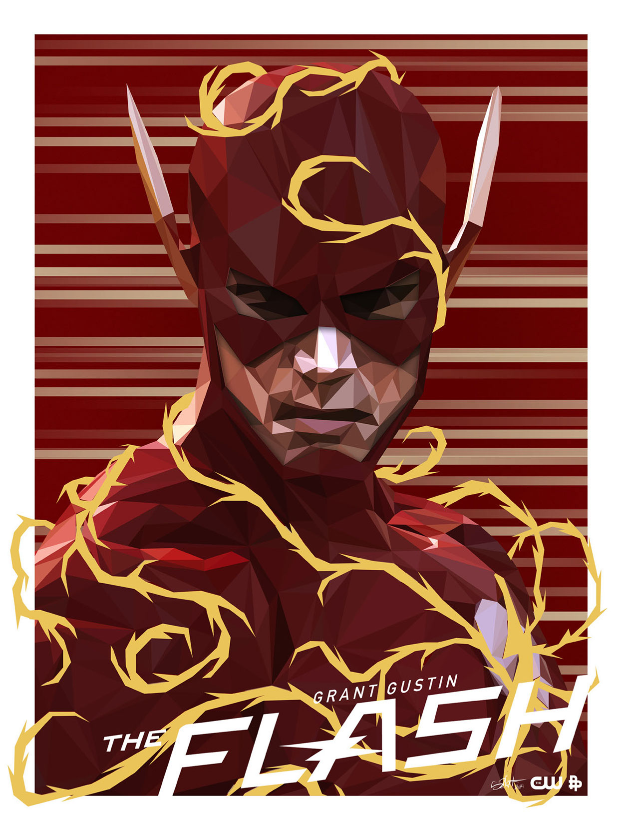 Geek Art The Flash Tribute Poster By Simon Delart We