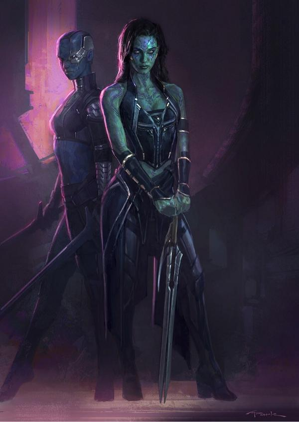 Guardians of the Galaxy – Beautiful Gamora and Nebula ...