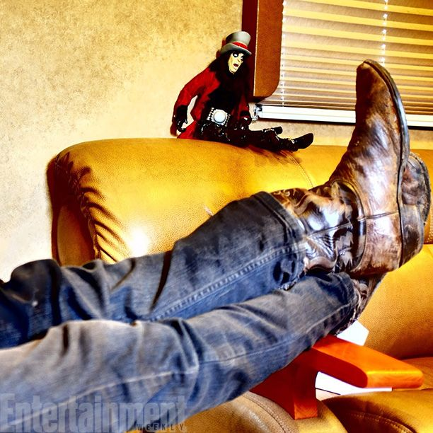 Even a crossbow-slinging badass kicks back sometimes...with Alice Cooper - Image Credit: Courtesy of Norman Reedus