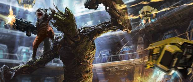 Rocket and Groot by Jackson Sze