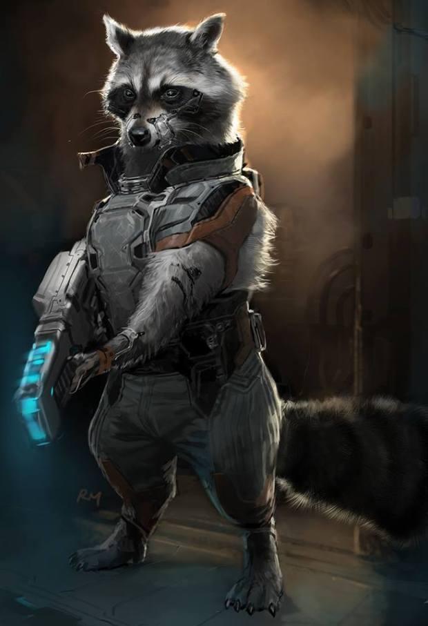 Rocket Raccoon_Concept Art by Ryan Meinerding