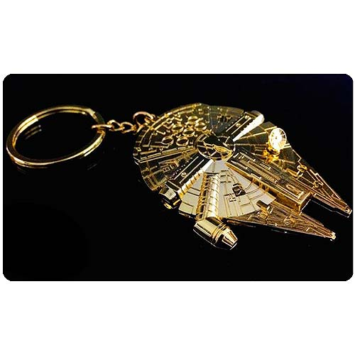 Star Wars Gold Millennium Falcon Replica Key Chai
