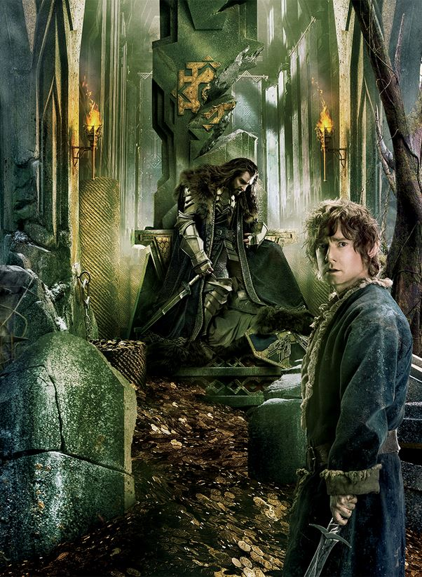 The Hobbit_The Battle of the Five Armies_Banner Tapestry_Bilbo and Thorin