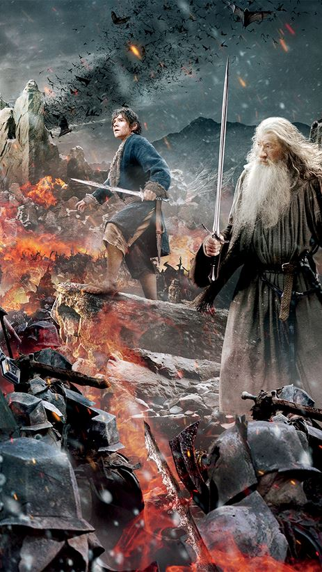 The Hobbit_The Battle of the Five Armies_Banner Tapestry_Gandalf and Bilbo