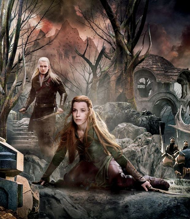 The Hobbit_The Battle of the Five Armies_Banner Tapestry_Legolas and Tauriel