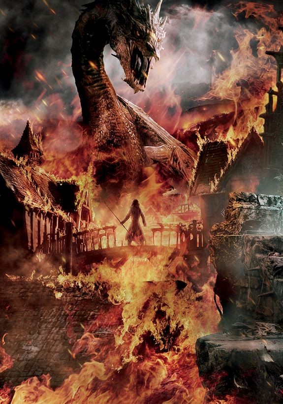 The Hobbit_The Battle of the Five Armies_Banner Tapestry_Smaug