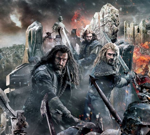 The Hobbit_The Battle of the Five Armies_Banner Tapestry_Thorin_Kili_Fili