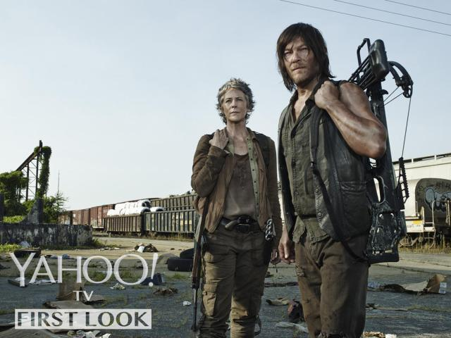 Melissa McBride as Carol Peletier and Norman Reedus as Daryl Dixon - Photo Credit: Frank Ockenfels 3/AMC (Via Yahoo!)