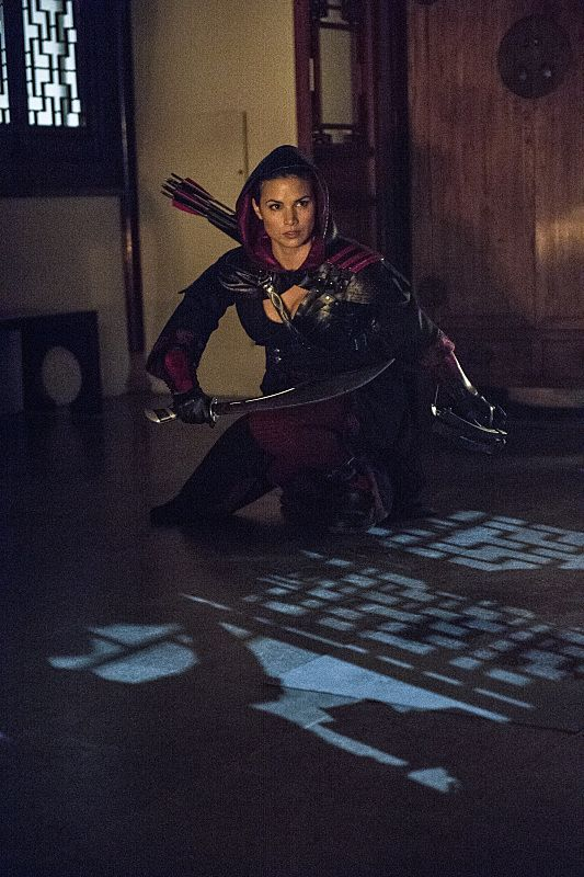 "Arrow -- ""The Magician"" Pictured: Katrina Law as Nyssa al Ghul -- Photo: Cate Cameron/The CW -- © 2014 The CW Network, LLC. All Rights Reserved."