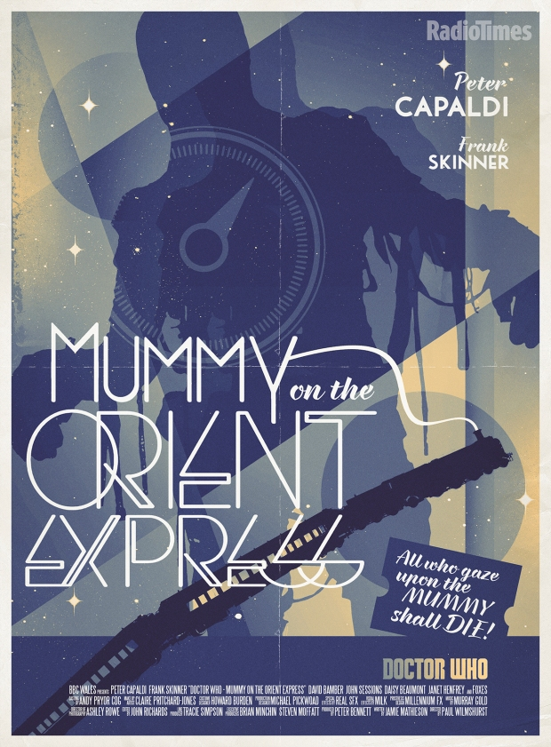 Doctor Who_Mummy on the Orient Express_Retro Poster