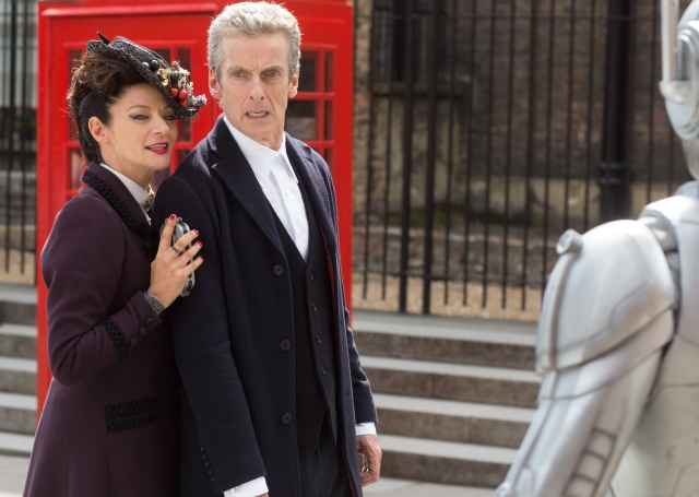 Picture shows: MICHELLE GOMEZ as Missy, PETER CAPALDI as The Doctor