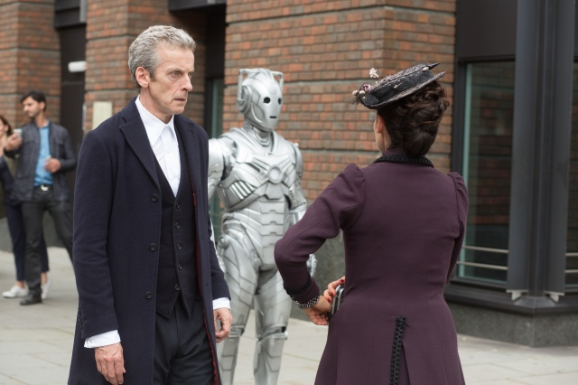 Picture shows: PETER CAPALDI as The Doctor, Cyberman, MICHELLE GOMEZ as Missy