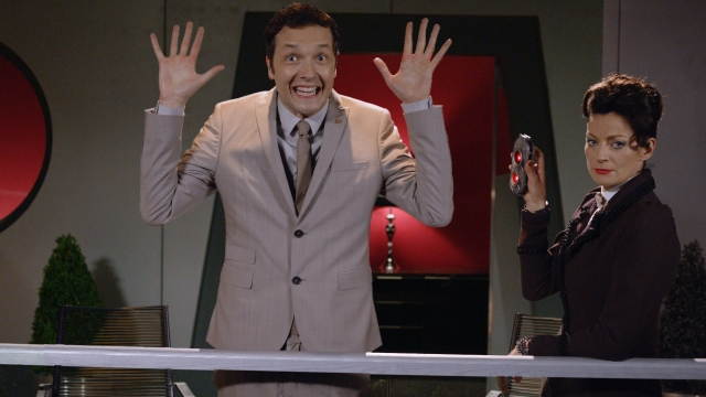 Picture shows: (l-r) CHRIS ADDISON as Seb, MICHELLE GOMEZ as Missy