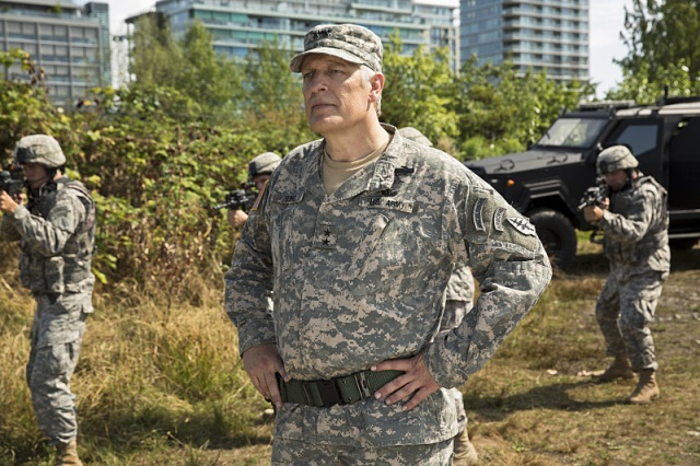 """The Flash -- """"Plastique""""  Pictured: Clancy Brown as Gen. Wade Eiling -- Photo: Jack Rowand/The CW -- © 2014 The CW Network, LLC. All rights reserved."""