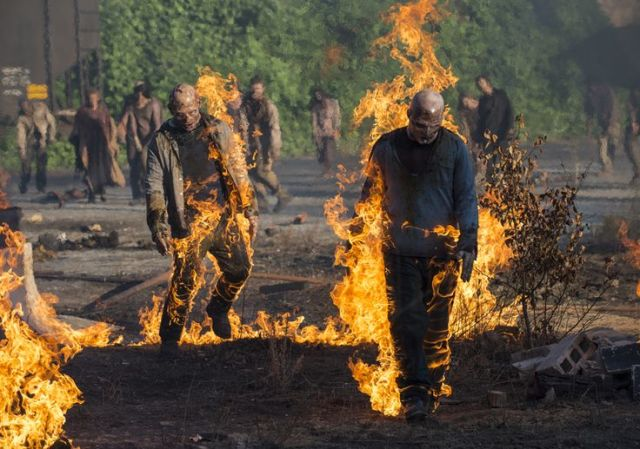 Walkers in Episode 1 Photo by Gene Page/AMC