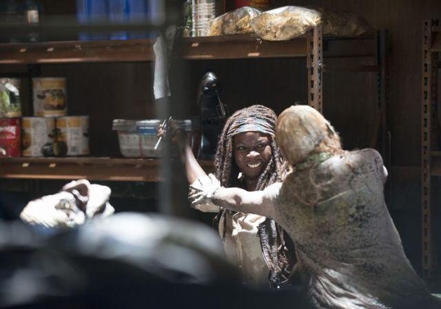 Michonne (Danai Gurira) in Episode 2 Photo by Gene Page/AMC